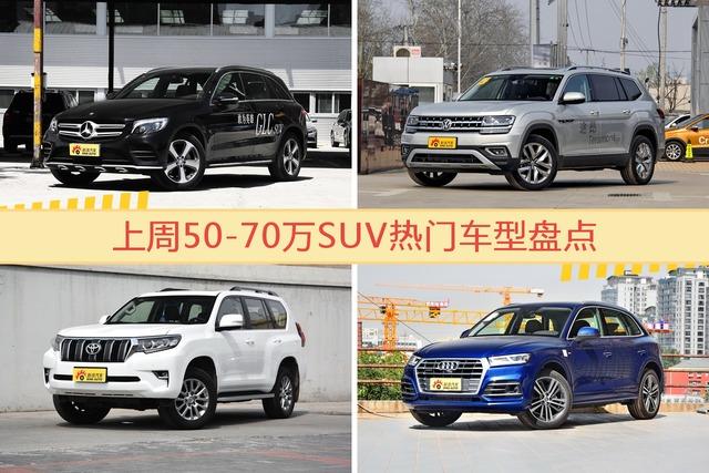 50-70万SUV车型上周热度排行揭晓,奔驰GLC级领跑