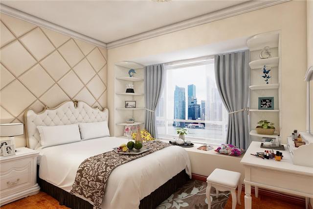主卧床头背景墙,这样v背景真好看|传统|背景床头与包装设计图片