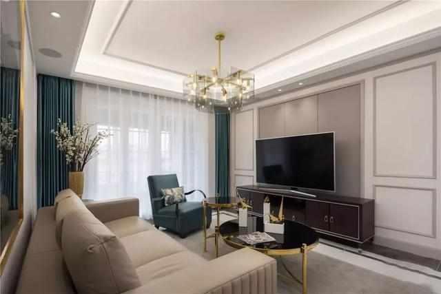 现代美式电视墙,这样设计真漂亮