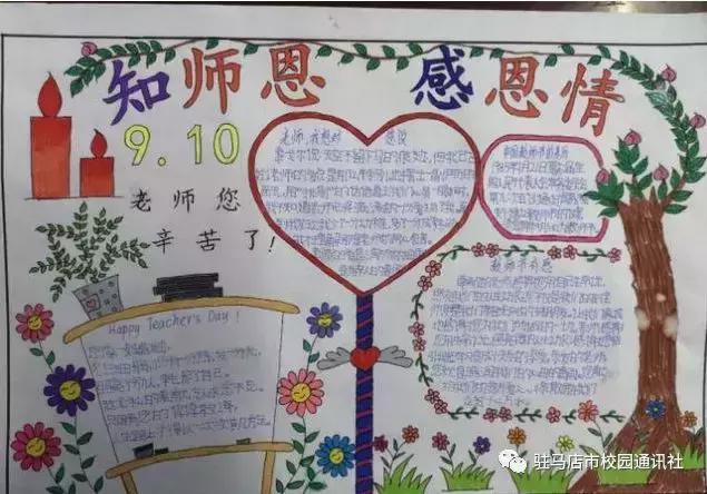 感谢有您 愿与您常伴:遂平县实验小学开展手抄报评比活动