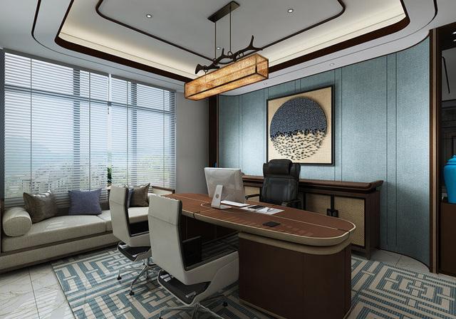 新中式办公室装修设计效果图|办公室|装修|经理_新浪网