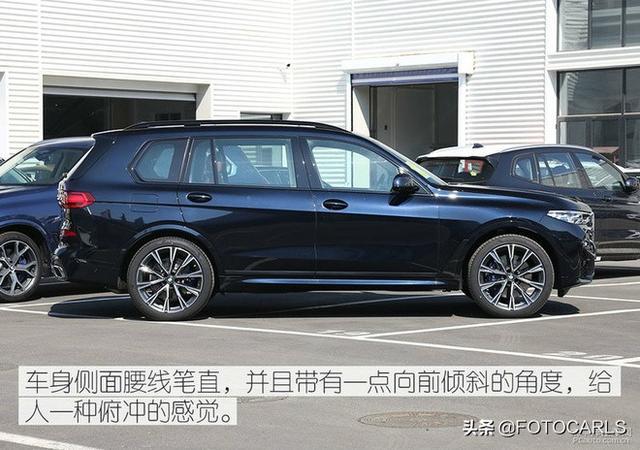 全新宝马X7旗舰SUV到店实拍,坐在头等舱俯视众车,不服来战?