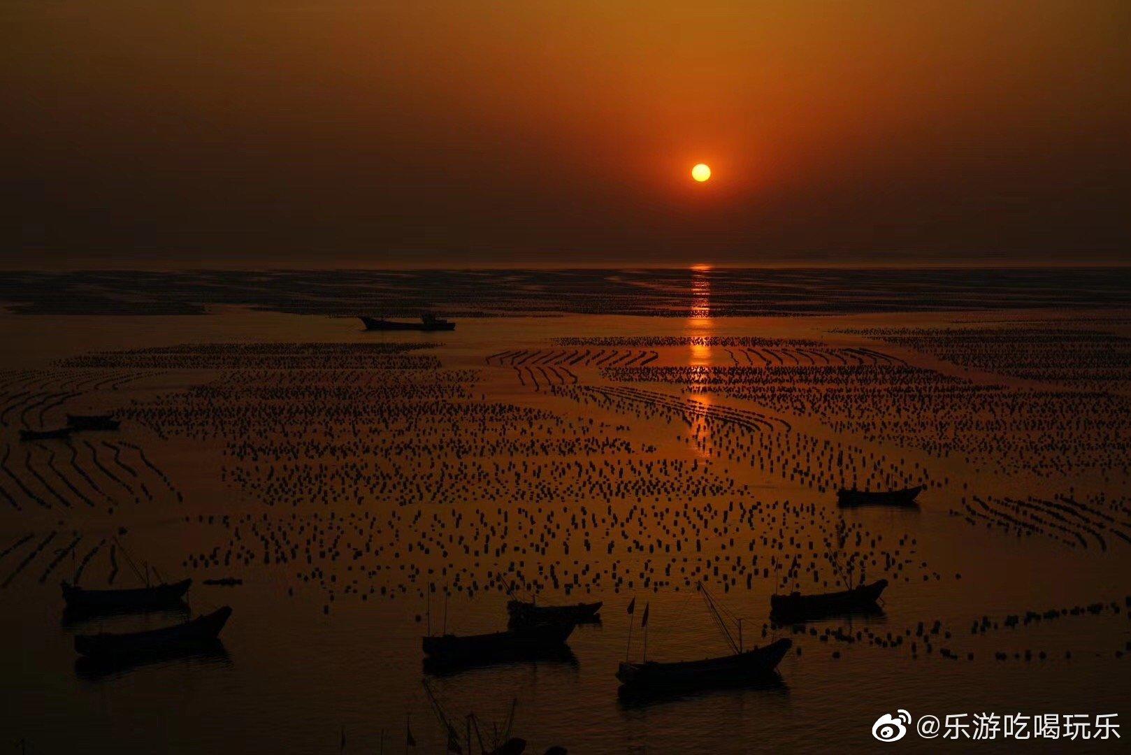 枸杞岛完美日落和西洋湾日出🌅……