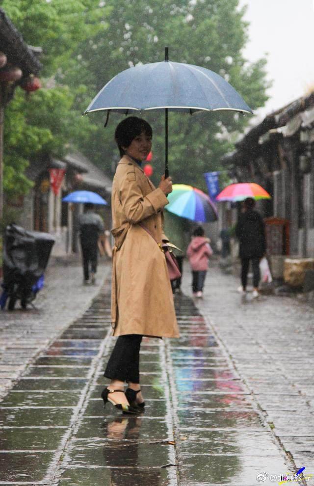 雨中的青州古城安静惬意