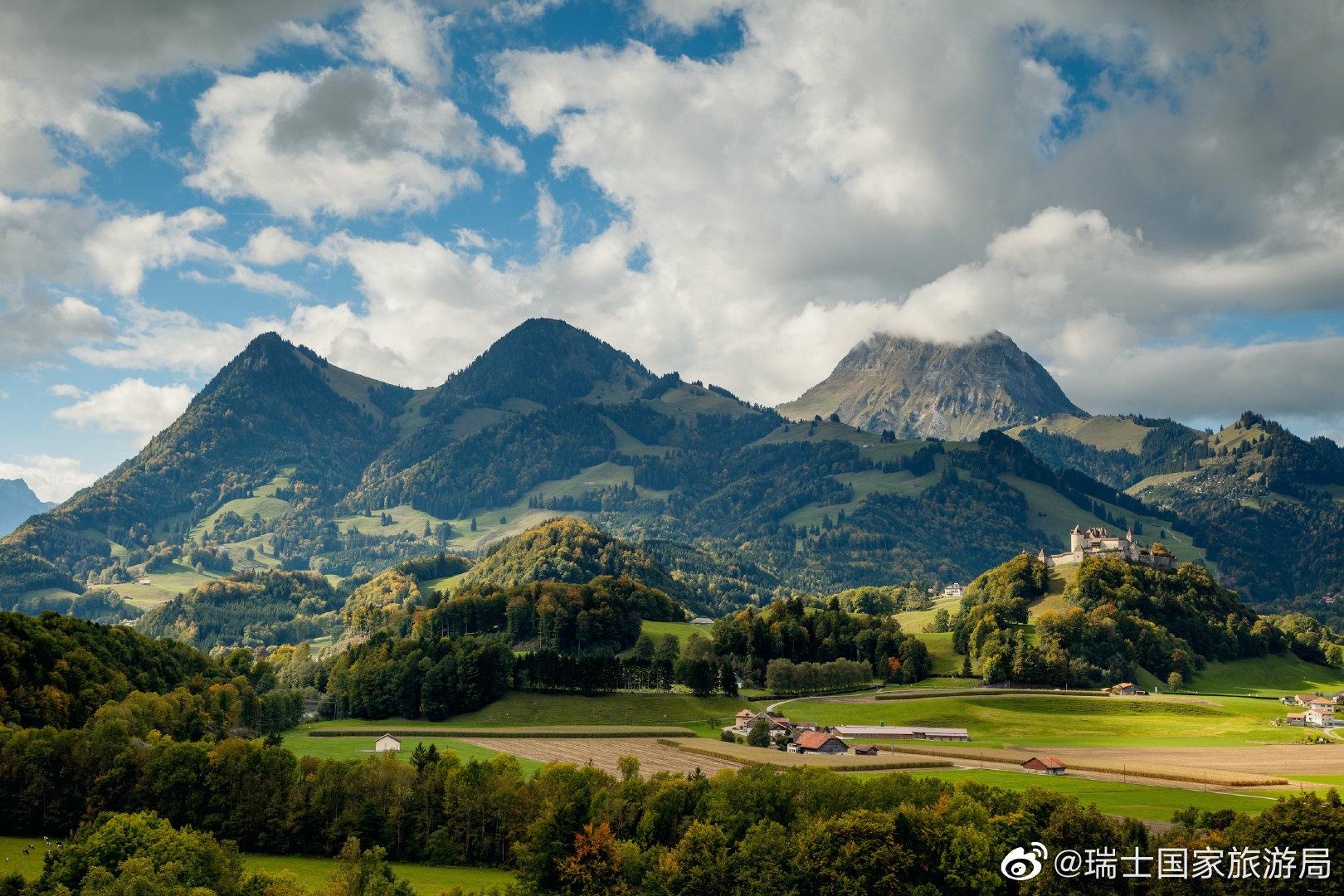 """""""瑞士最美村庄""""候选小镇:格吕耶尔"""