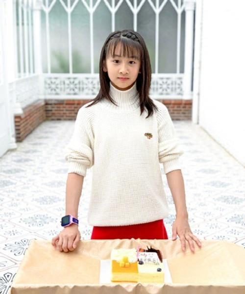 田亮女儿森碟近照曝光,才11岁就快跟他爸一样高了!图片