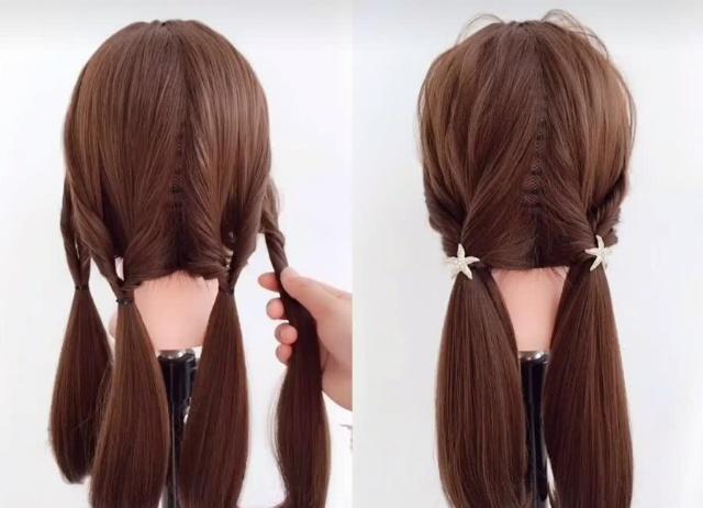 男友也能学会的编发,除了 双马尾 ,除了 扭花扣 ,还有它