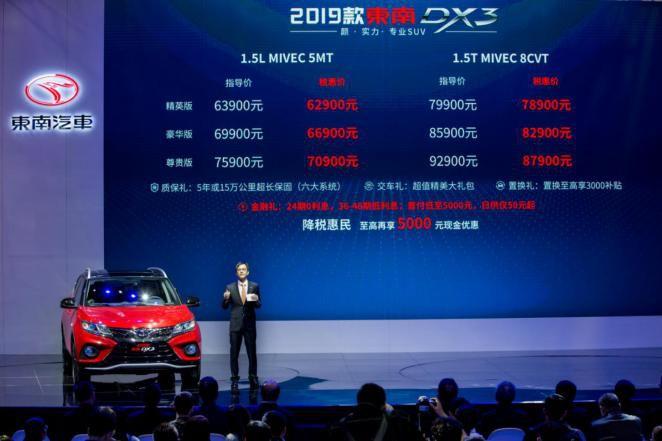 2019款东南DX3亮相上海车展,明星产品能否撩动你心?