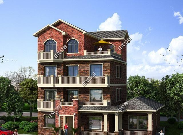15x12米4层别墅瓷砖,可不是隔代v别墅,三世实现同堂梦农村灰色别墅图片
