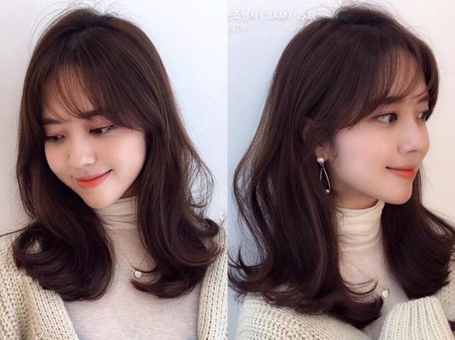 春季最流行的发型:八字刘海 披肩发,瘦脸效果超级好!