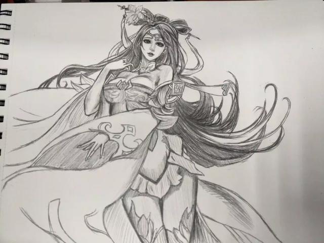 王者榮耀: 玩家手繪英雄, 貂蟬貌美如花, 圖四成為