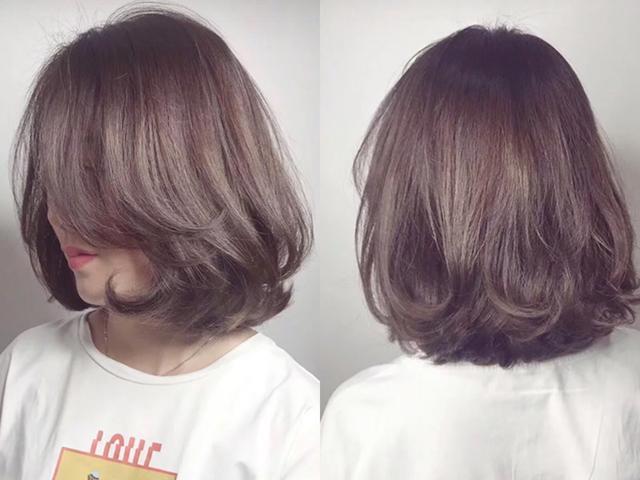 2019年最流行的短发烫发型,一定少不了这一种内扣烫卷设计的短发,头发图片