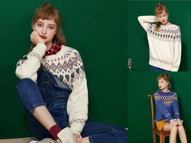 """毛衣的款式那么多,2019年早春最流行是这件""""花毛衣""""!"""