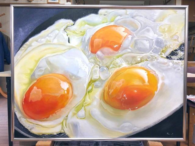 这诱人的煎鸡蛋原来是画出来的