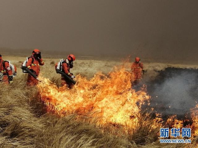 内蒙古呼伦贝尔新巴尔虎左旗发生草原火灾
