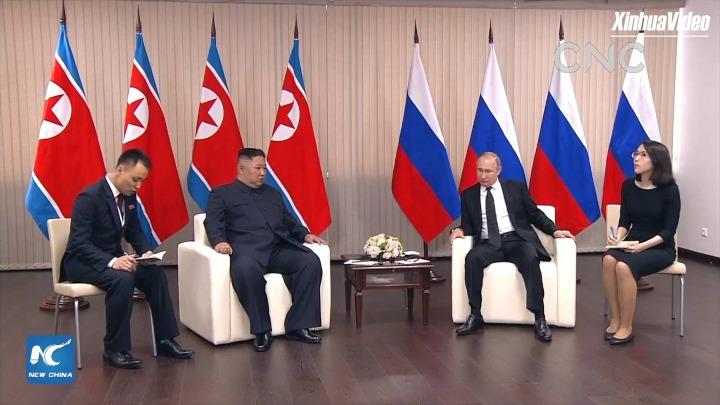AI合成主播普京与金正恩举行会晤