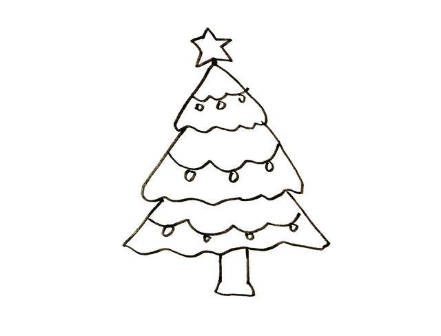 亲子简笔画大树素材|10种不同大树卡通画,简单好画图片