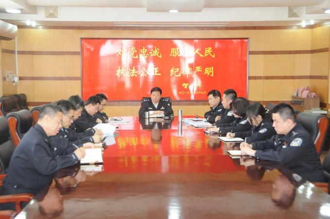 公安宁河分局局长参加指挥室年度组织生活会