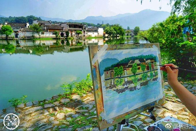 水墨画的宏村,倾听光阴的故事