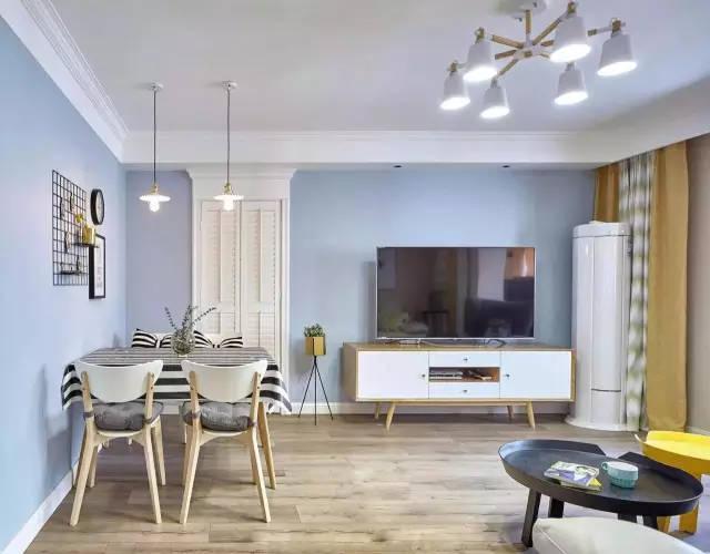 80平米清新可爱北欧风格两居,色彩搭配真漂亮,既温馨又有品位