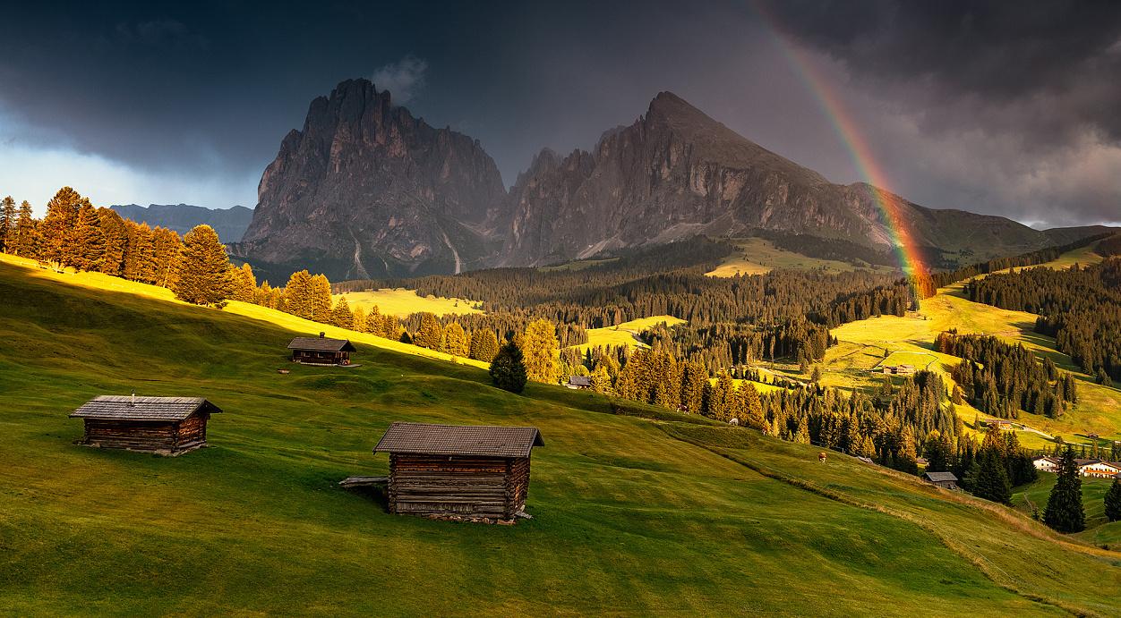 阿尔卑斯山脉多洛米蒂风光