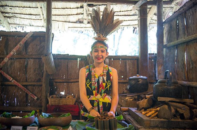 沙巴原始部落竟然有这么多美女
