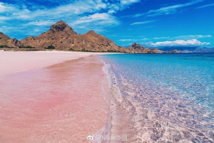 少女心炸裂的360度无死角美的粉红沙滩