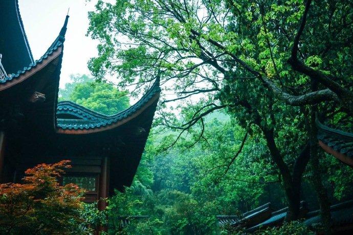 杭州灵隐寺,绿意盎然的禅意世界