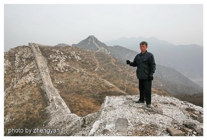 守护北京延庆石峡古长城数十年的梅景田
