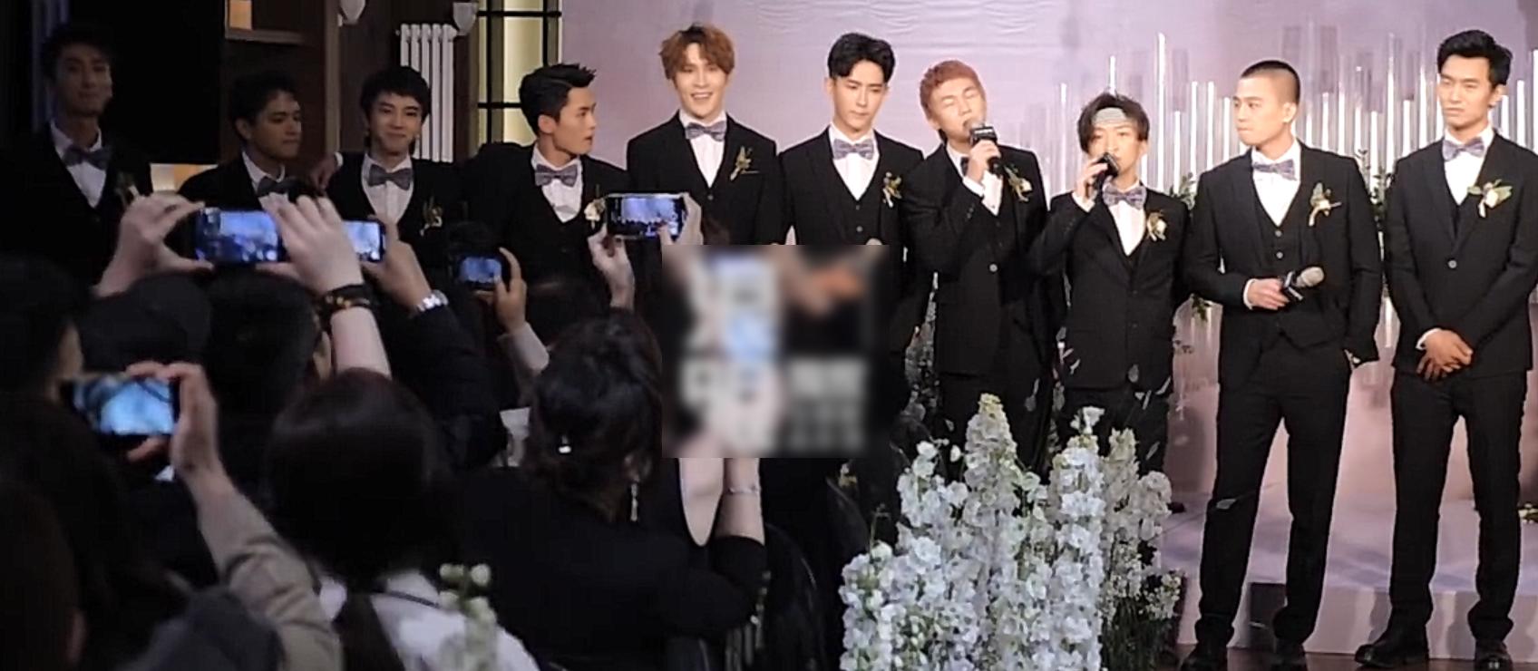左立婚礼,十位快男集合做伴郎,然娱乐圈的他的结婚排场也不小
