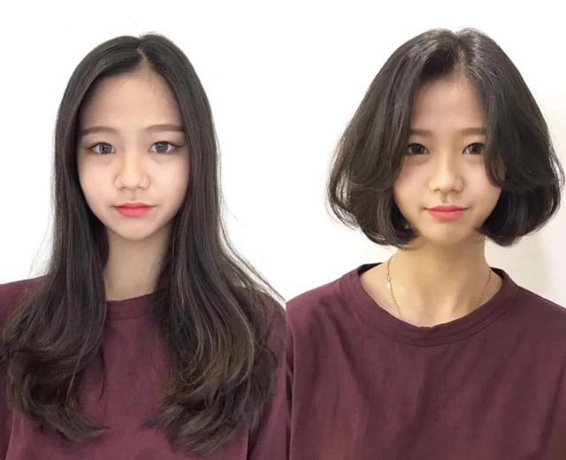 """2019年最火的""""摩根烫""""发型,扁塌头型,发量少女生烫超好看图片"""