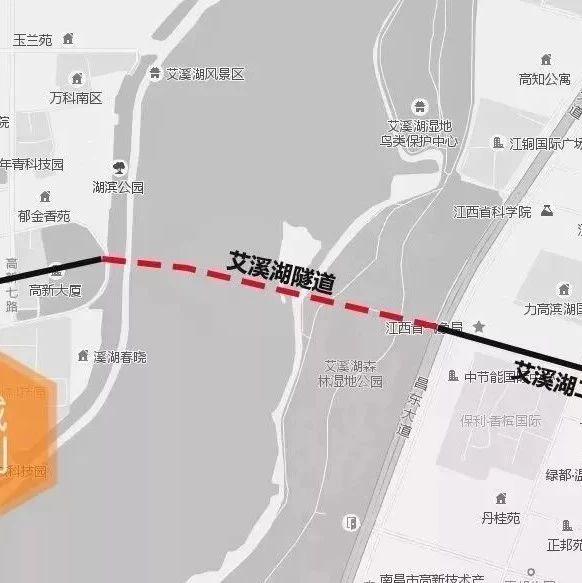 规划图曝光!南昌又将多一条湖底隧道!具体位置在这