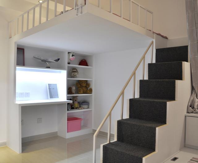 35平米小型公寓设计图,简单的小阁楼使得房子使用价值