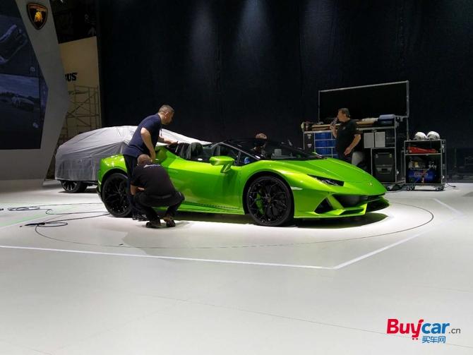 2019上海车展探馆 兰博基尼Huracán EVO Spyder敞篷版亮相车展
