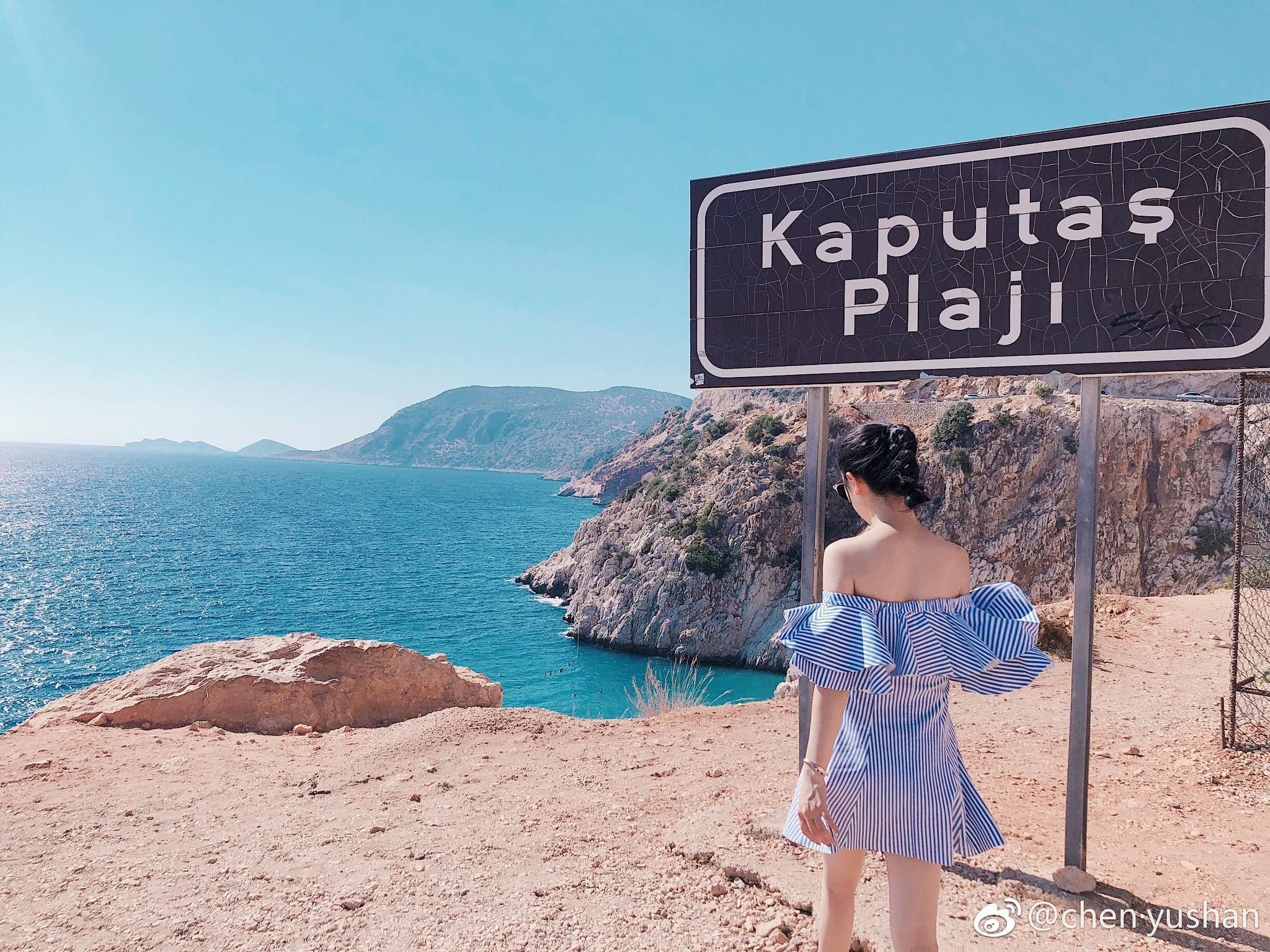 女神闲逛在kaputas海滩
