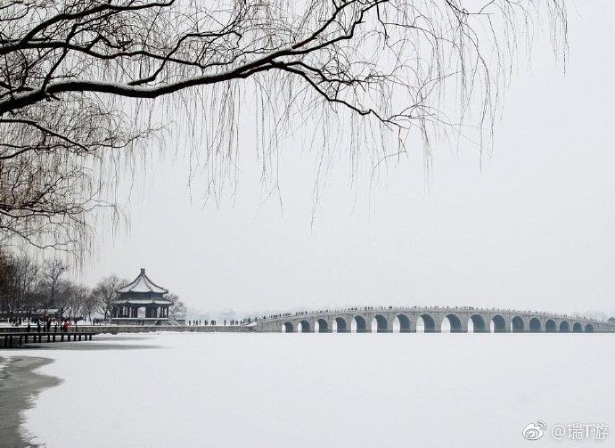雪中颐和园 美的不像话