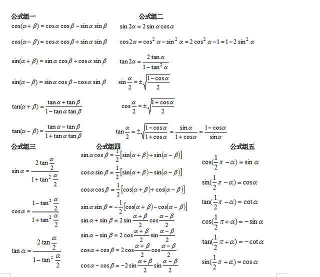 高中高中超详细三角函数知识点!高中生要学数学v高中学费专项中学周至图片