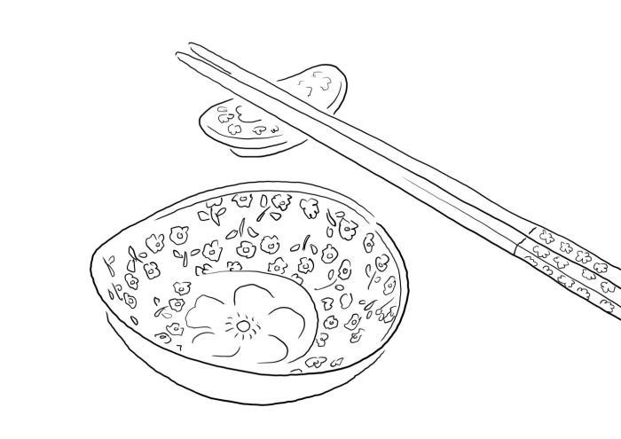 筷子设计图手绘