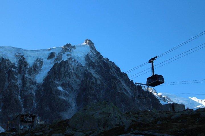 今天在夏慕尼不吃铁板烧, 去眺望万宝龙的品牌象徵: 白朗峰