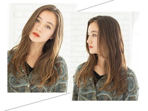 微卷 长发发型,就很美啦图片