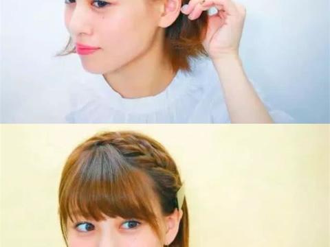 齐耳短发的编发教程,过年这样扎,亲戚朋友都要夸你漂亮又手巧!