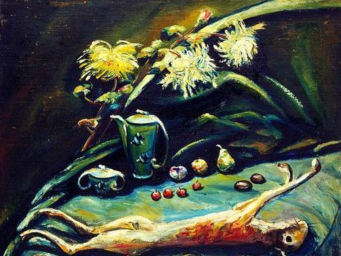 近代名家朱沅芷油画作品欣赏