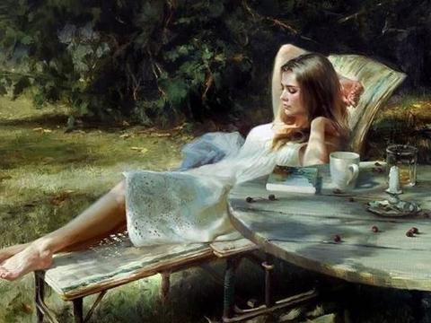 献给那些爱读书的女人们:俄罗斯画家弗拉基米尔·沃莱戈夫作品