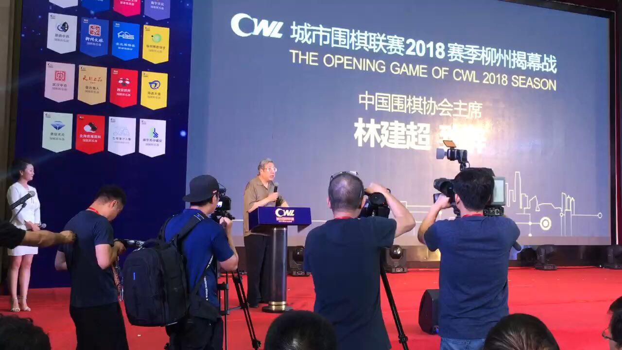 视频-城围联开幕式 中国围棋协会主席林建超致辞