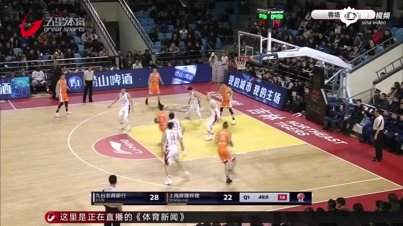 视频-刘炜复出张兆旭伤退 上海不敌吉林遭三连败