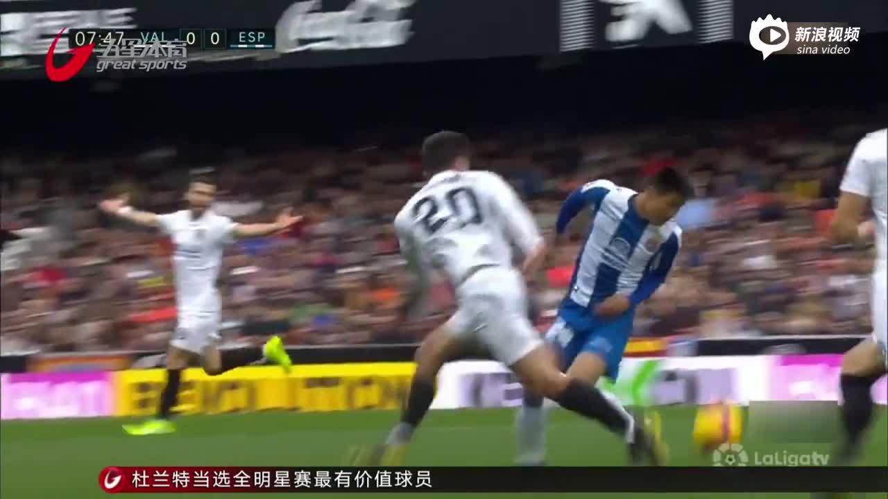 视频-武磊首发亮相70分钟 西班牙人逼平巴伦西亚
