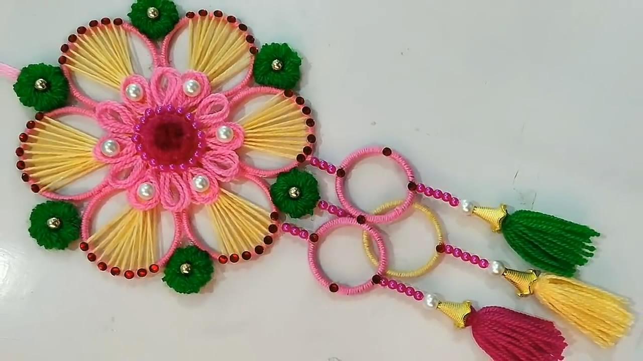 「创意手工diy」用这个方法制作花型挂饰,不仅简单还很漂亮!图片