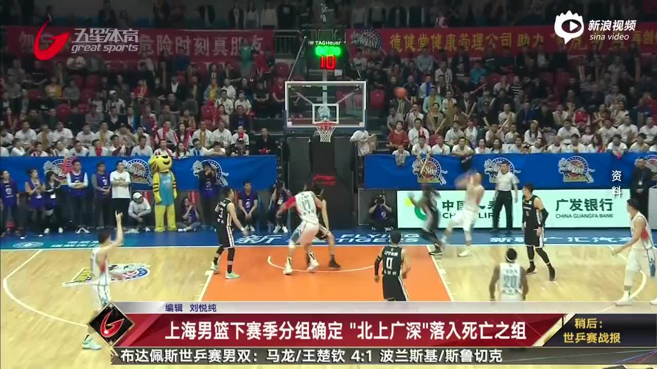 上海男篮下赛季分组确定 北上广深落入死亡之组