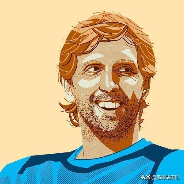 凯里-欧文的漫画头像,胡子拉擦面带微笑,画的很想德鲁大叔.