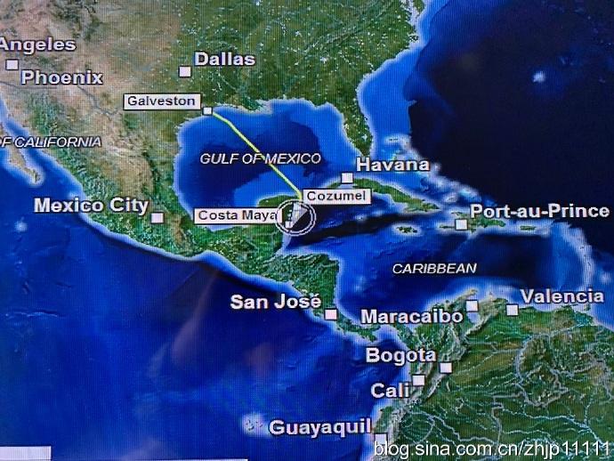 海外游记——加勒比海西线游(1)启航墨西哥湾